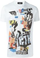 DSQUARED2 newspaper collage T-shirt