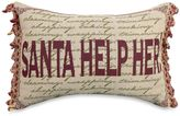 Bed Bath & Beyond Santa Help Her 13-Inch x 18-Inch Oblong Holiday Tapestry Accent Pillow