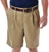 Haggar Cool 18 No-Iron Pleated Shorts-Big & Tall