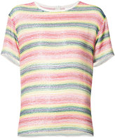 Ashish beaded striped T-shirt - women - Cotton/Silk - S