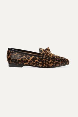 Alexandre Birman Becky Bow-embellished Leopard-print Calf Hair Loafers - Leopard print