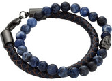 Simon Carter Leather and soldalite bead bracelet