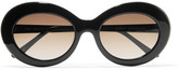 Sunday Somewhere - Kurt Oval-frame Acetate Sunglasses - Black