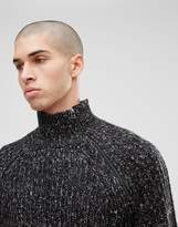 ONLY & SONS Knitted Jumper With High Zip Neck