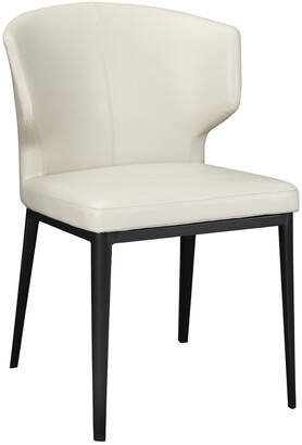 Moe's Home Collection Set Of 2 Delaney Side Chair Beige