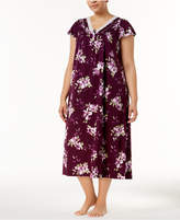 Charter Club Plus Size Cotton Lace-Trim Nightgown, Created for Macy's