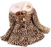 Changeshopping Girls Princess Faux Fur Coat Girls Warm Jacket Snowsuit