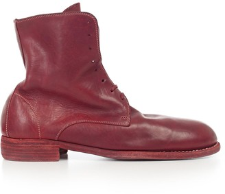 Guidi Distressed Lace-Up Ankle Boots