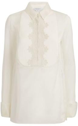 Gabriela Hearst Lace-Panel Silk Shirt