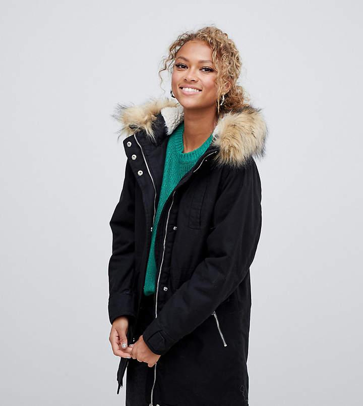 e7115139670c Women s Parka With Faux Fur Hood - ShopStyle