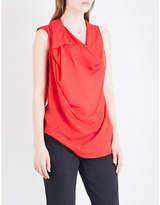 Anglomania Draped sleeveless woven top