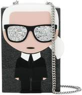 Karl Lagerfeld Ikonik Minaudiere clutch