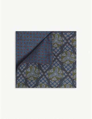 Eton Reversible paisley-print pocket square