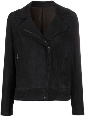 Salvatore Santoro Suede-Effect Biker Jacket