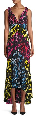 Diane von Furstenberg Printed High-Low Silk Dress