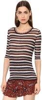 Etoile Isabel Marant Zigzag Striped Cotton Sweater