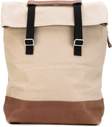 Qwstion - Day Tote backpack - unisex - Cotton/Leather - One Size