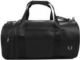 Fred Perry Classic Texture Barrel Bag Black