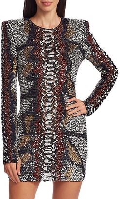 Naeem Khan Embellished Bodycon Dress