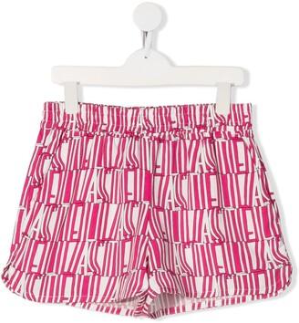Stella Mccartney Kids TEEN logo print shorts