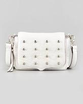 Rebecca Minkoff Mini Connor Leather Crossbody Bag, White