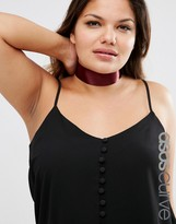 Asos Wide Satin Choker Necklace