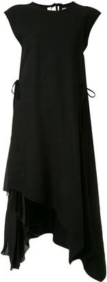 Shanshan Ruan Asymmetric Midi Dress