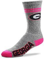 For Bare Feet Adult Georgia Bulldogs Two Stripe Crew Socks