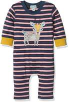 Lilly and Sid Baby-Girls Little Deer Applique Playsuit Romper,6-12 Months
