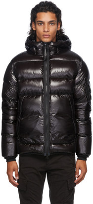 C.P. Company Black Down Hooded Jacket