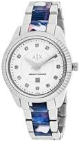 Giorgio Armani Exchange Classic AX5438 Women's Stainless Steel Watch with Crystal Accents