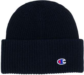 Champion cable knit logo beanie