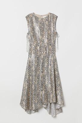 H&M Patterned silk-blend dress