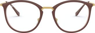 Ray-Ban Unisex's Rx7140 Square Eyeglass Frames Prescription Eyewear