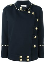 Pierre Balmain double breasted military jacket - women - Cotton/Polyamide/Spandex/Elastane/Viscose - 36