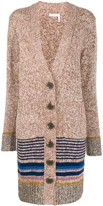 See by Chloe striped trim cardigan