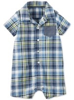 Carter's Plaid & Chambray Romper, Baby Boys (0-24 months)