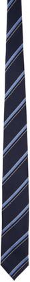 Ermenegildo Zegna Navy Silk Striped Tie