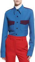 Calvin Klein Wool Twill Western Shirt