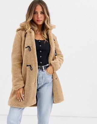 Qed London teddy duffle coat