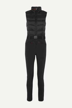 Perfect Moment Super Star Belted Quilted Padded Ski Suit - Black