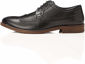 Find. Mens Brogues Heritage Leather Black 8 UK (42 EU)