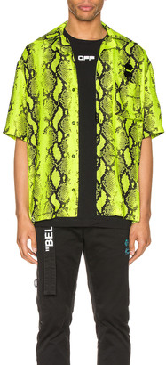 Off-White Snake Holiday Shirt in Fluo Yellow | FWRD