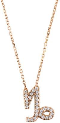 Latelita Zodiac Star Sign Pendant Necklace Rose Gold Capricorn