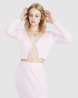 Alice In The Eve India Plunge Skimpy Knit Top