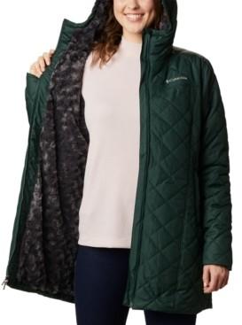 Columbia Copper Crest Hooded Fleece-Lined Mid-Length Coat