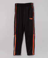 CB Sports Black & Coral Warm-Up Pants - Boys