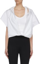 Alexander Wang Deconstructed Off-shoulder Top