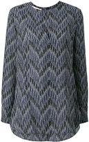 Marni zig-zag print blouse - women - Silk - 38