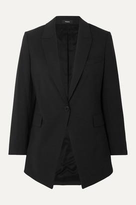 Theory Etiennette Wool-blend Crepe Blazer - Black